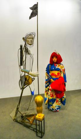 performance artist Ayakamay at Art Basel 2014