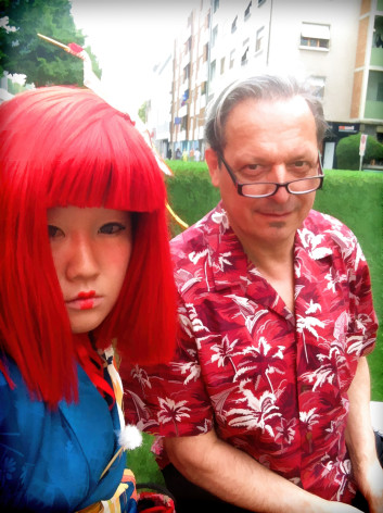 performance artist Ayakamay and Hubert Kretzschmar at Art Basel